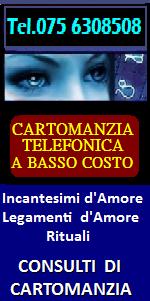 CARTOMANZIA TELEFONICA A PALERMO - INCANTESIMI D'AMORE A PALERMO LEGAMENTI, RITUALI